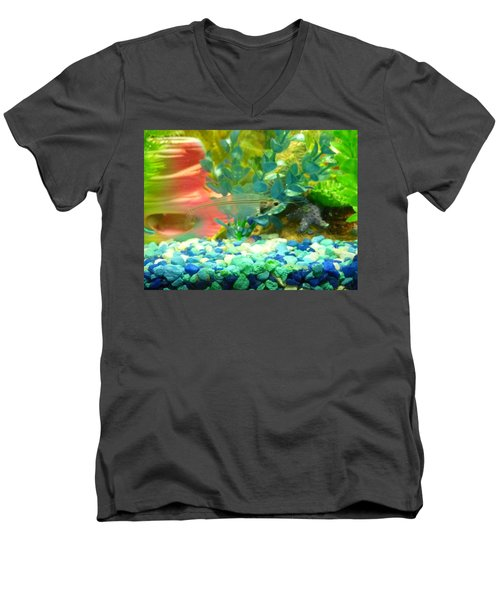 Transparent Catfish Men's V-Neck T-Shirt by Barbara Yearty
