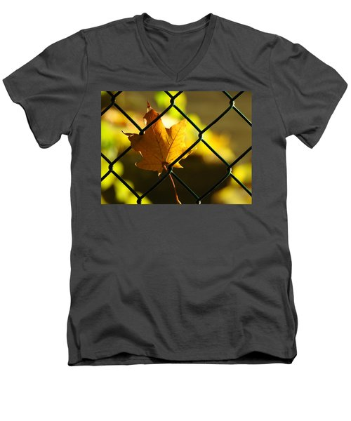 Trapped Men's V-Neck T-Shirt by Betty-Anne McDonald