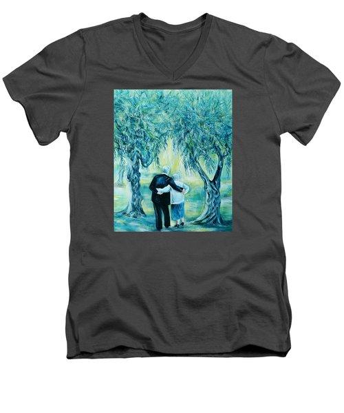 Travel Notebook.olive Groves Men's V-Neck T-Shirt