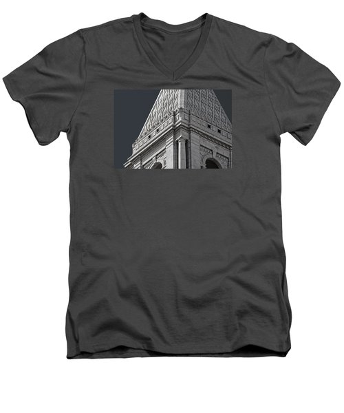 Travelers Tower Summit Men's V-Neck T-Shirt by Phil Cardamone