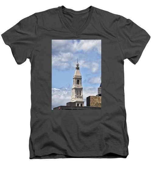 Travelers Tower In Hartford Connecticut Men's V-Neck T-Shirt