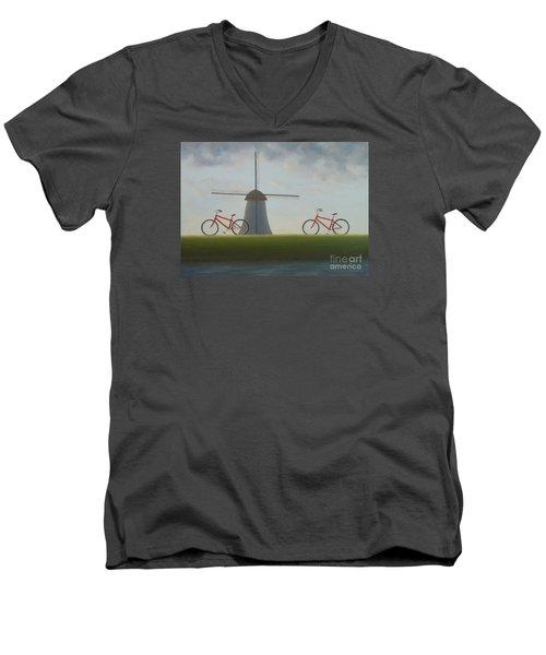Traveling In Holland Men's V-Neck T-Shirt