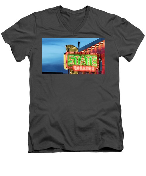 Traverse City State Theatre Men's V-Neck T-Shirt