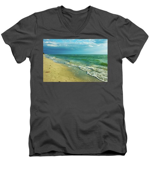 Men's V-Neck T-Shirt featuring the photograph Treasure Island L by RC Pics