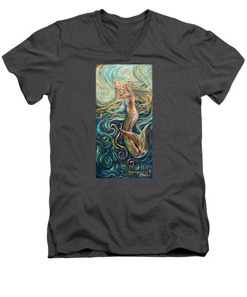 Treasure Mermaid Men's V-Neck T-Shirt