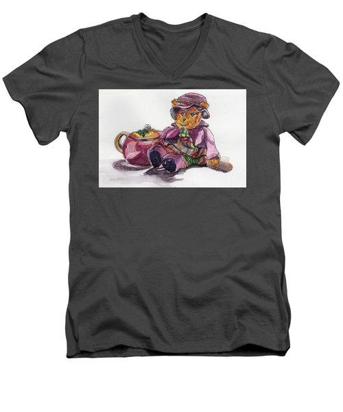Treasures In Pink Men's V-Neck T-Shirt