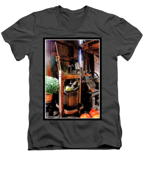 Treasures Of  Fall Men's V-Neck T-Shirt by MaryLee Parker