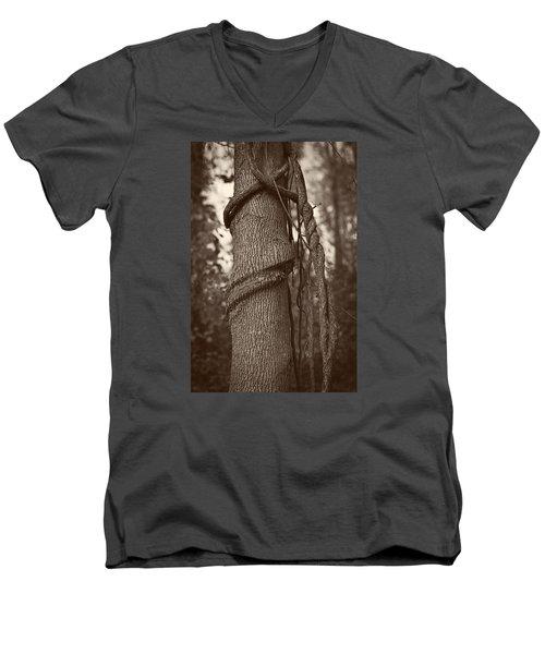Tree 5 Men's V-Neck T-Shirt by Simone Ochrym