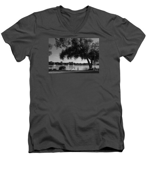 Tree At The Water Men's V-Neck T-Shirt