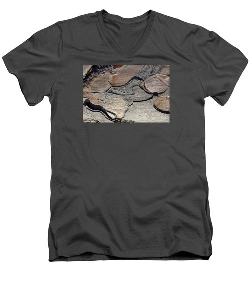 Men's V-Neck T-Shirt featuring the photograph Tree Bark 2 by Jean Bernard Roussilhe