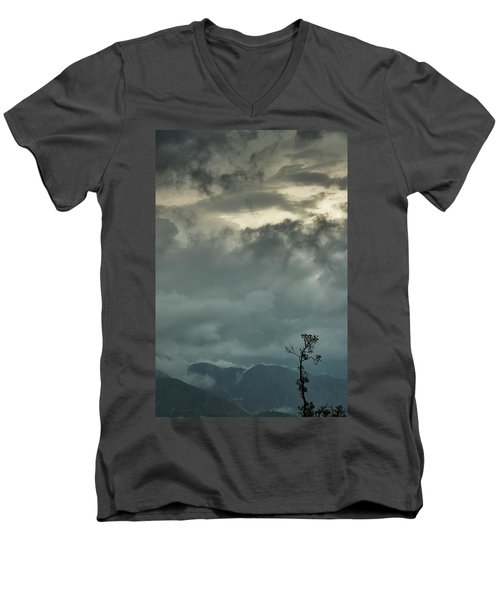 Tree. Bright Light Men's V-Neck T-Shirt by Rajiv Chopra