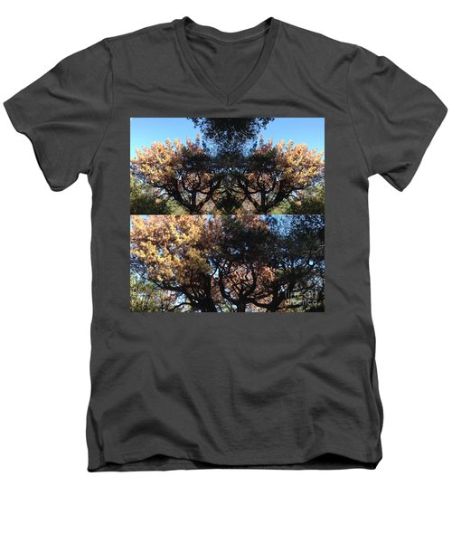 Tree Chandelier Men's V-Neck T-Shirt by Nora Boghossian