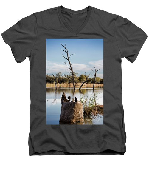 Men's V-Neck T-Shirt featuring the photograph Tree Image by Douglas Barnard