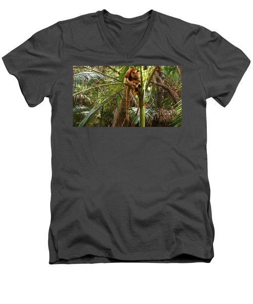 Tree Kangaroo 2 Men's V-Neck T-Shirt by Gary Crockett