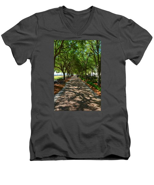 Tree Lined Path Men's V-Neck T-Shirt
