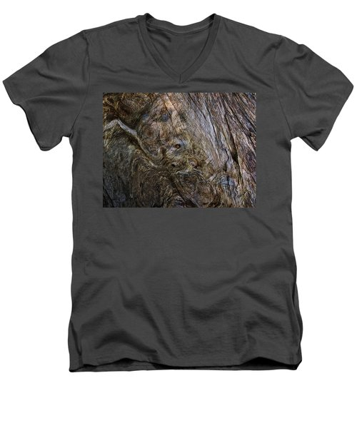 Men's V-Neck T-Shirt featuring the photograph Tree Memories # 19 by Ed Hall