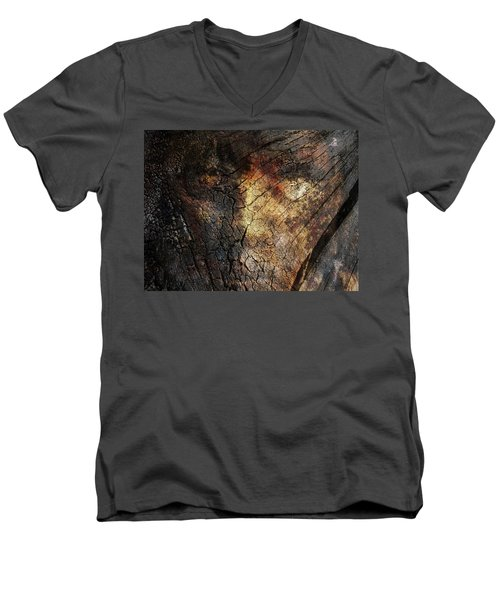 Men's V-Neck T-Shirt featuring the photograph Tree Memories # 21 by Ed Hall