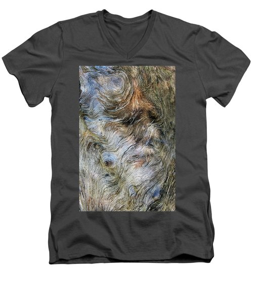 Men's V-Neck T-Shirt featuring the photograph Tree Memories # 40 by Ed Hall