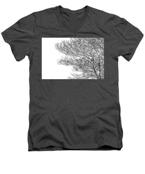 Tree No. 7-2 Men's V-Neck T-Shirt