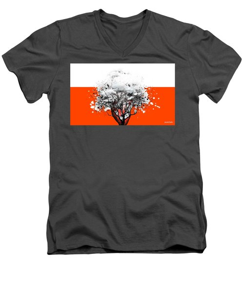 Tree Of Feelings Men's V-Neck T-Shirt by Paulo Zerbato