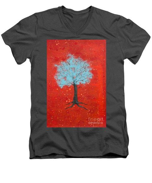 Nuclear Winter Men's V-Neck T-Shirt by Stefanie Forck