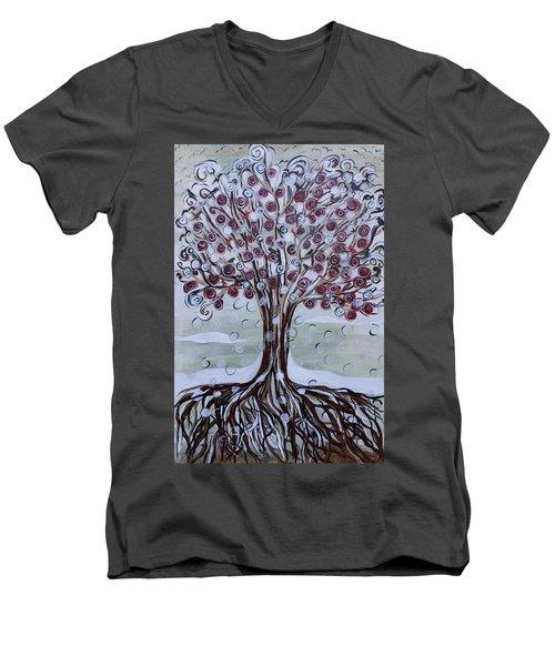 Tree Of Life - Winter Men's V-Neck T-Shirt