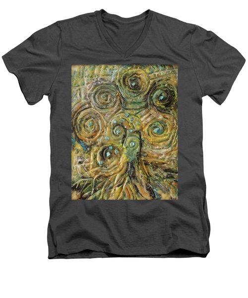 Tree Of Swirls Men's V-Neck T-Shirt