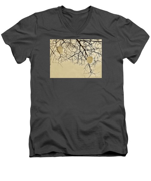 Tree Orbs Men's V-Neck T-Shirt by Reb Frost