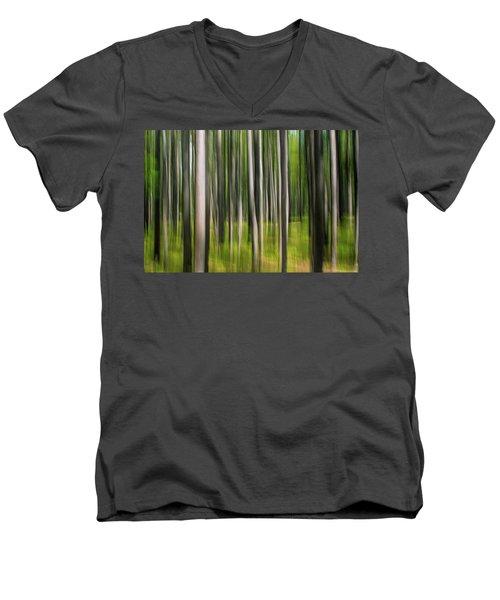Tree Painting Men's V-Neck T-Shirt