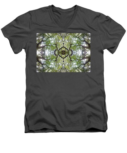 Tree Photo Fractal Men's V-Neck T-Shirt