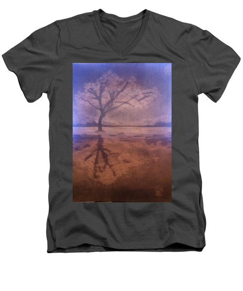 Tree Reflection  Men's V-Neck T-Shirt