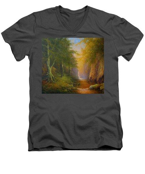 Fairytale Forest Tree Spirit Men's V-Neck T-Shirt