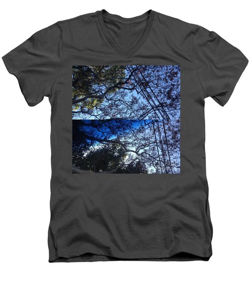 Tree Symphony Men's V-Neck T-Shirt by Nora Boghossian