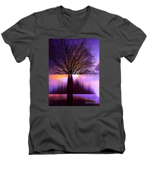 Tree Triptych Men's V-Neck T-Shirt