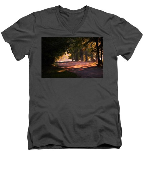 Tree Tunnel Men's V-Neck T-Shirt