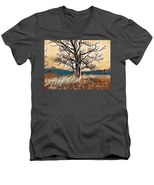 Tree1 Men's V-Neck T-Shirt