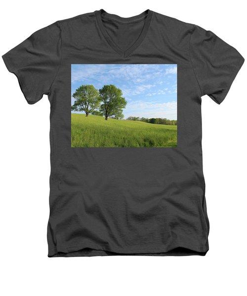 Summer Trees 3 Men's V-Neck T-Shirt