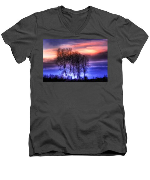 Trees And Twilight Men's V-Neck T-Shirt