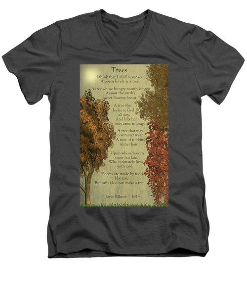Trees Men's V-Neck T-Shirt