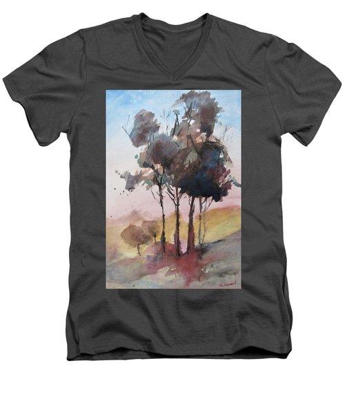 Trees Men's V-Neck T-Shirt by Geni Gorani