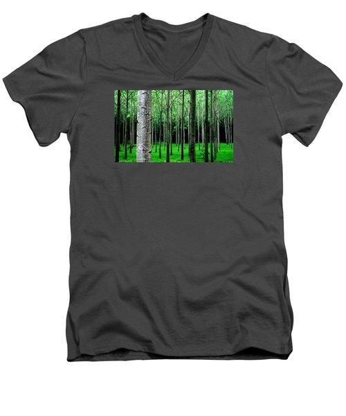 Trees In Rows Men's V-Neck T-Shirt