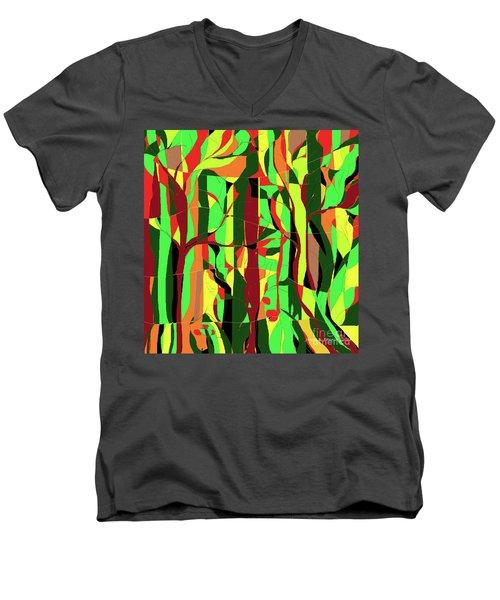 Trees In The Garden Men's V-Neck T-Shirt