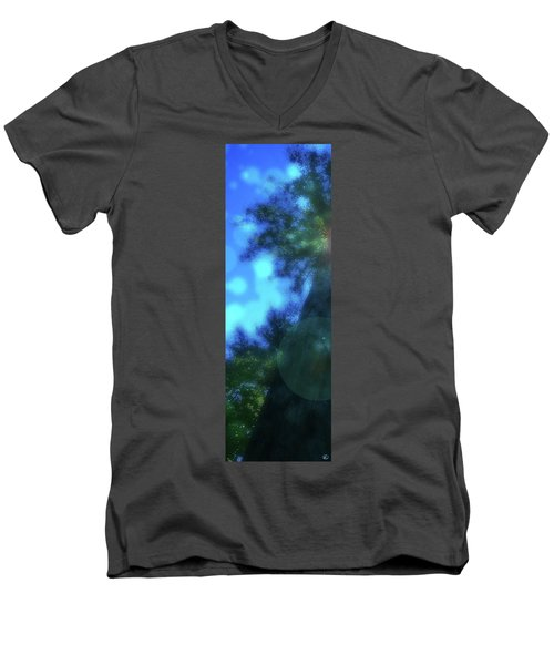 Trees Left Men's V-Neck T-Shirt by Kenneth Armand Johnson