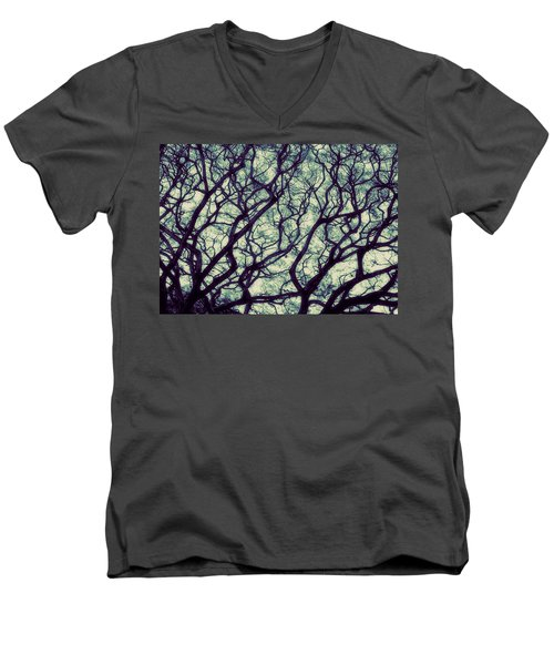 Men's V-Neck T-Shirt featuring the photograph Trees by Ranjini Kandasamy