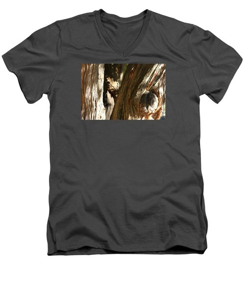 Trees Trunks Men's V-Neck T-Shirt