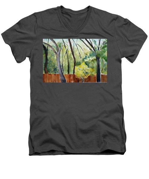 Trees1 Men's V-Neck T-Shirt by Tom Simmons