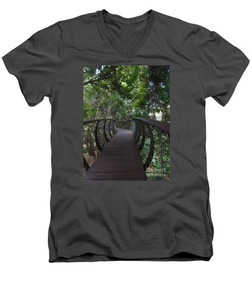 Treetop Canopy Walk Men's V-Neck T-Shirt by Bev Conover