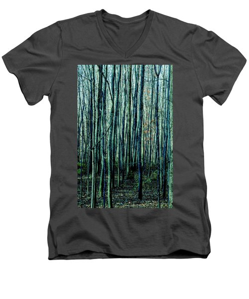 Treez Cyan Men's V-Neck T-Shirt