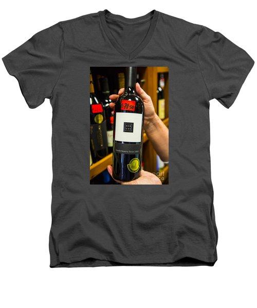 Tremendous Wine Men's V-Neck T-Shirt by Rick Bragan