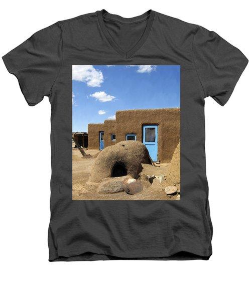 Tres Casitas Taos Pueblo Men's V-Neck T-Shirt
